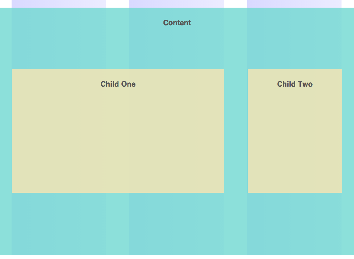 2 background images in one div - Notice How That The Background For Content Is Extending Past The Columns While The Child One And Child Two Are Now Nicely Fitted Into The Grids