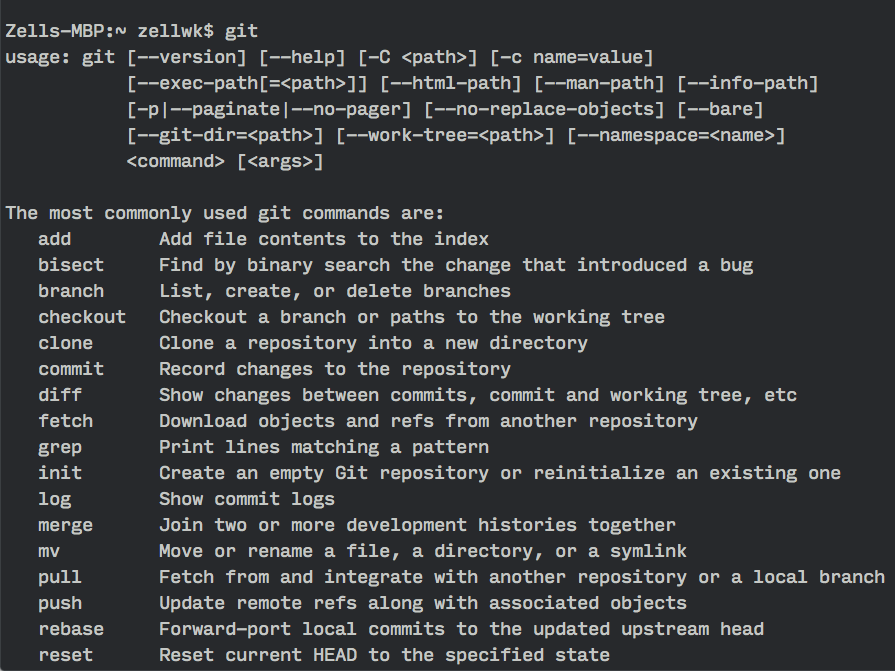 Invalid command git