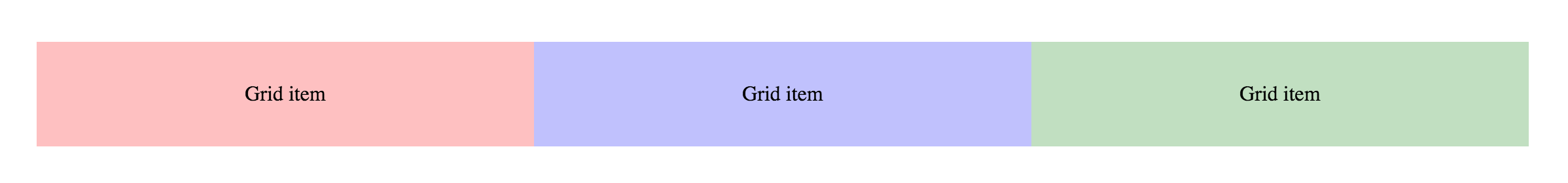 Three-column grid without gutters