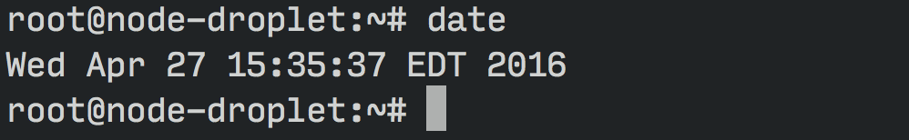 Date command