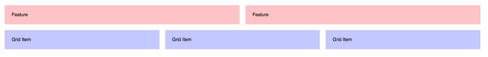 3-column Feature Grid with Flexbox