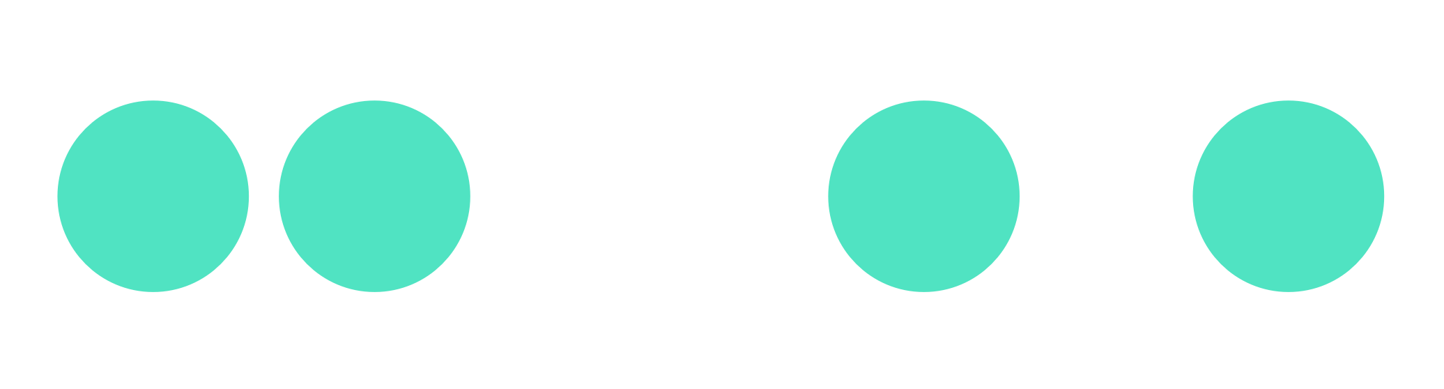 Two groups of circles