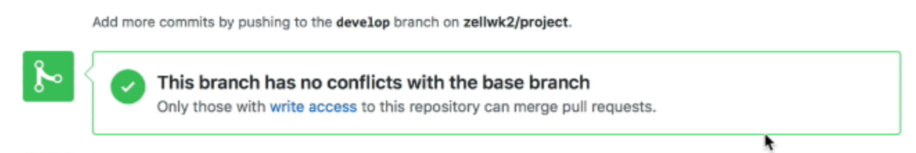 Non-collaborators won't see the merge pull request button