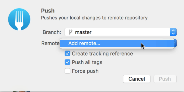 git push to different remote branch