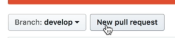 The pull request button on a forked repository