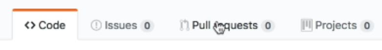 The pull request tab