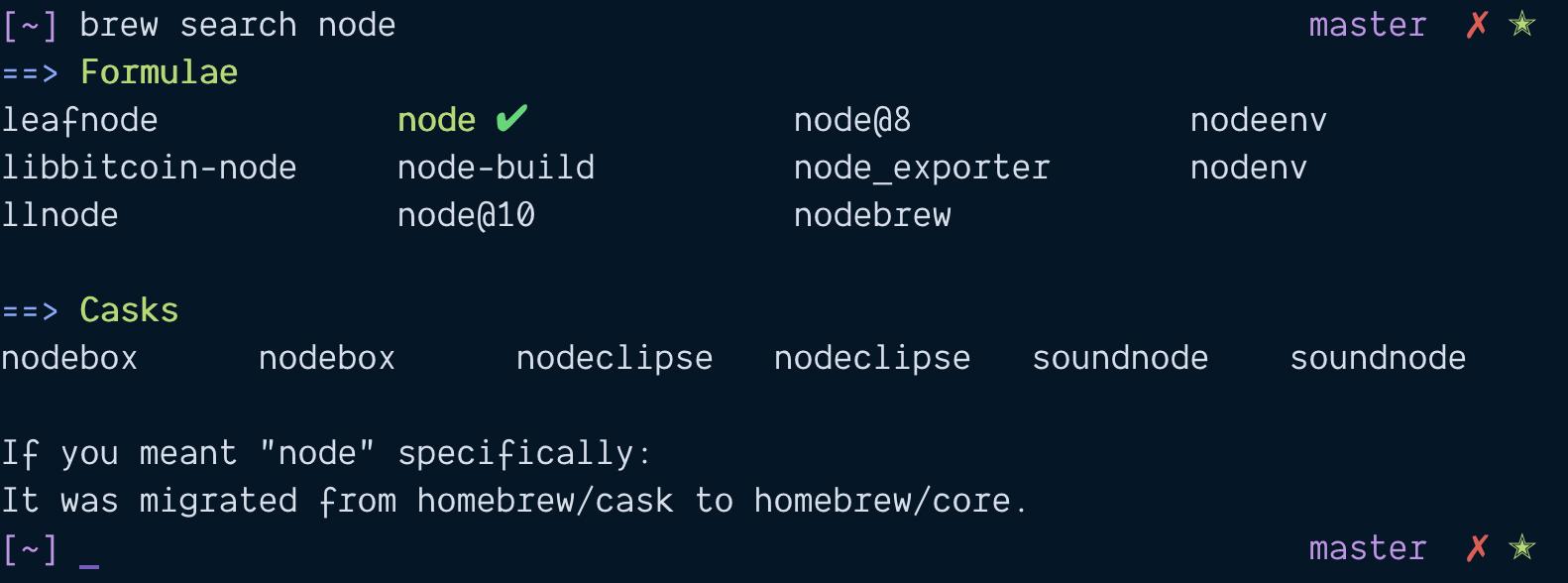 Macos node install directory