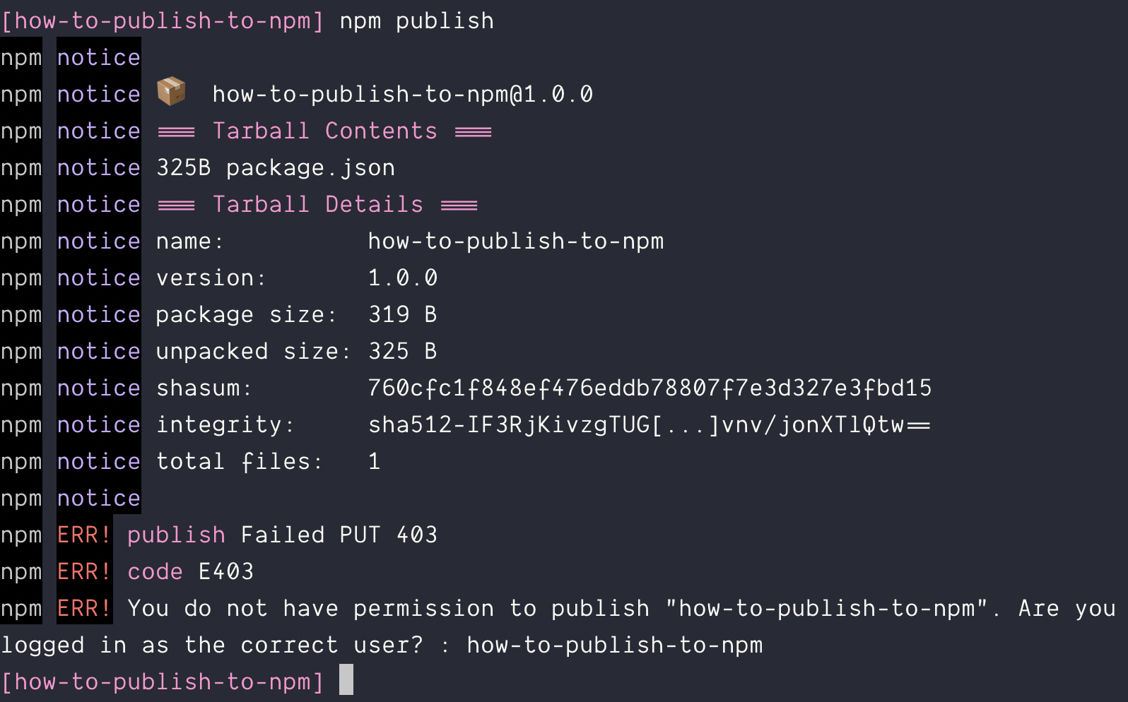 How to publish packages to npm (the way the industry does