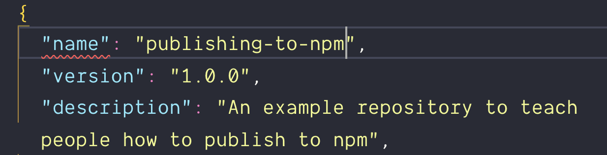 Changed name property to publishing-to-npm