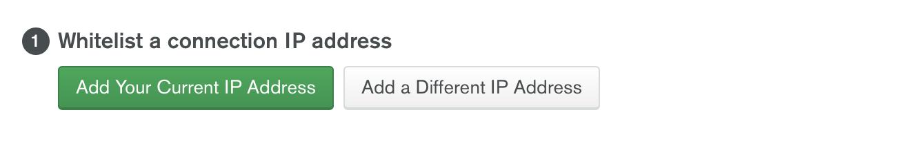 Agrega la dirección IP.