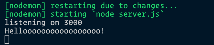 Logs helloooo in the command line.