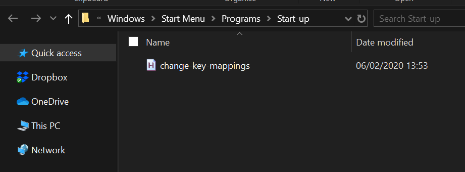 Added `change-key-mappings.ahk` to the Startup folder.
