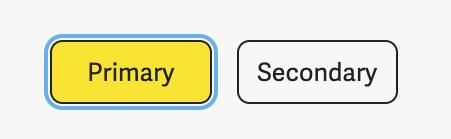 Blue outline when button gets focus.