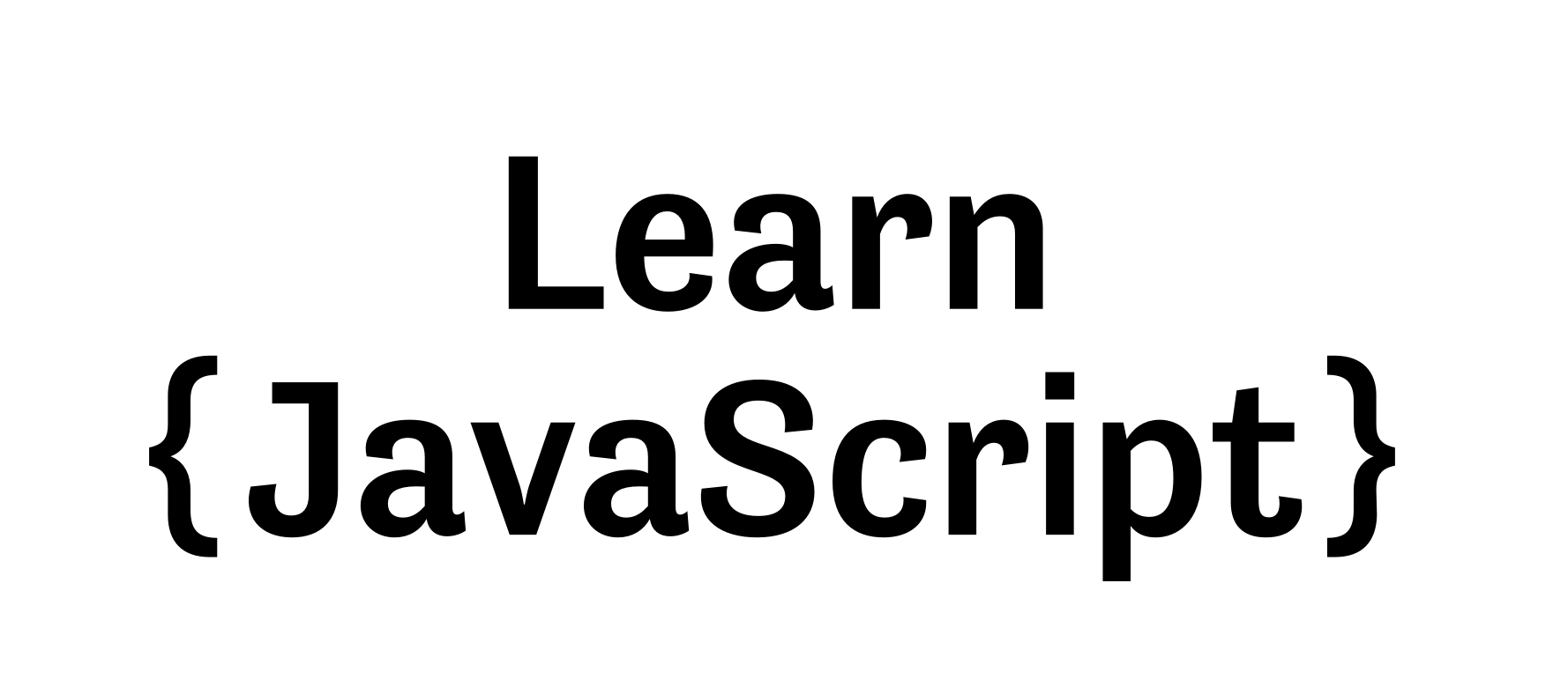 Learn JavaScript logo without animating text.