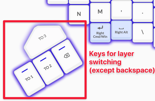 My current layer change keys