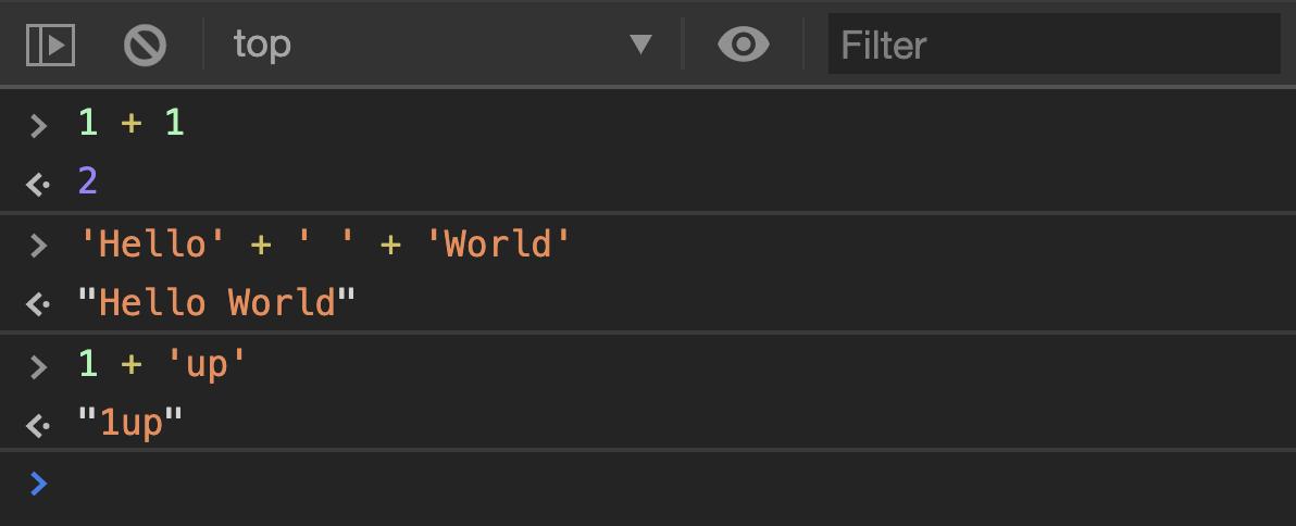 Muestra los resultados del código anterior dentro de una consola de desarrollo.