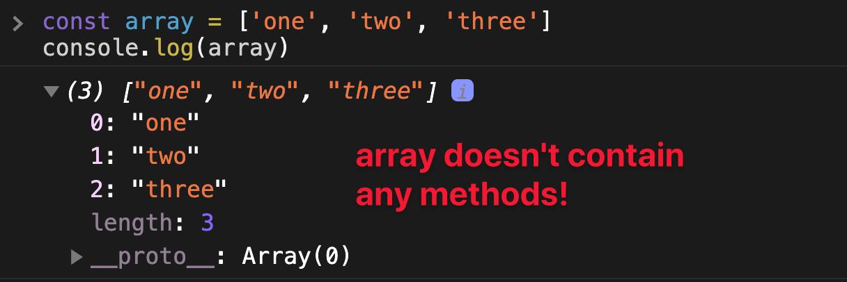 Array no contiene método.