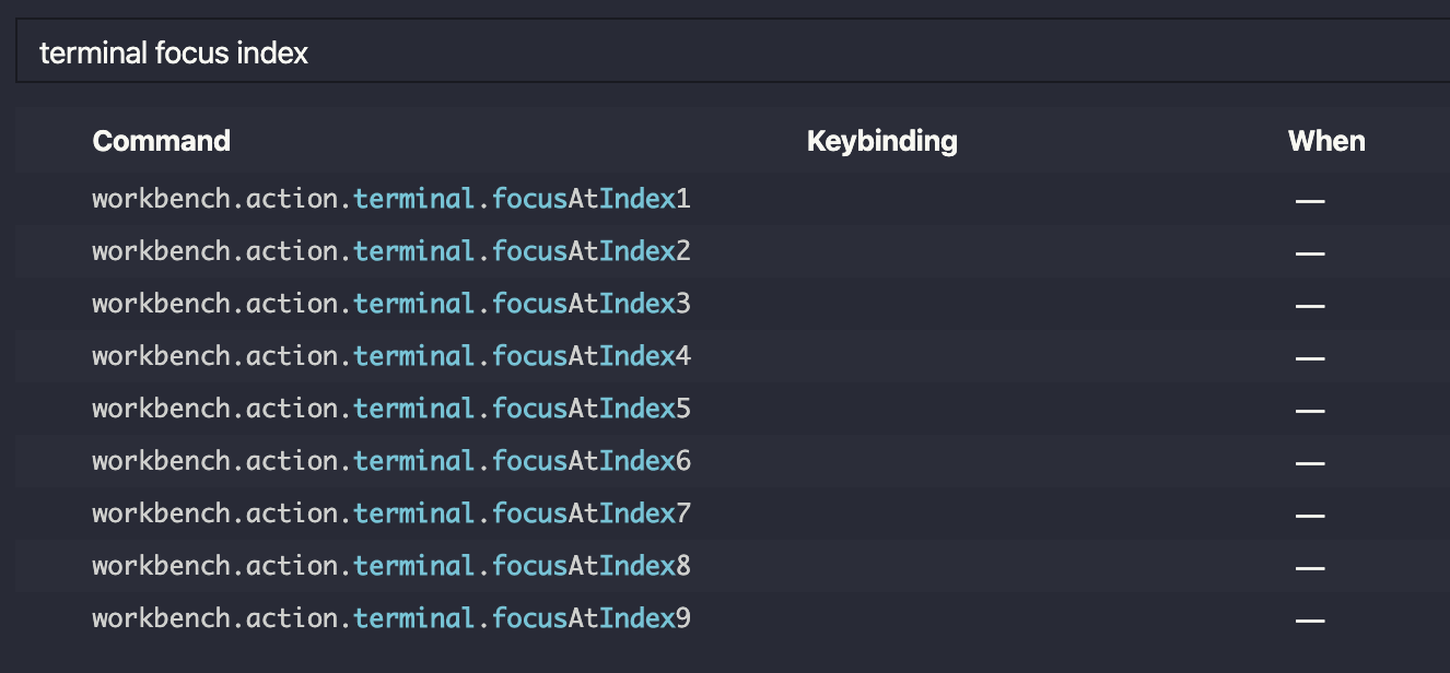 Searched for focus terminal at index.
